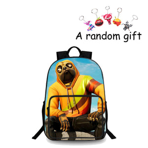 2019 Fortnite Doggo Skin Youth High Capacity School Backpack 18 Inch