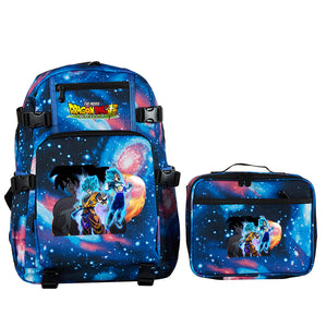 Dragon Ball Super Broly School Backpack with Detachable Lunch Bag