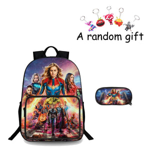 End Game Boys Girls 3D 18 Inch Backpack And Pencil Case 2 in 1