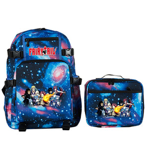 Fairy Tail School Backpack with Detachable Lunch Bag