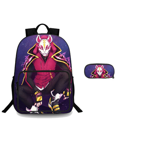Fortnite Drift Back To School 3D 18 Inch Backpack And Pencil Case 2 in 1