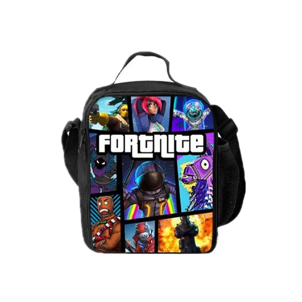2019 Fortnite Series Marshmello Boys Girls 3D Blue Oxford Backpack And Lunch bag 2 in 1