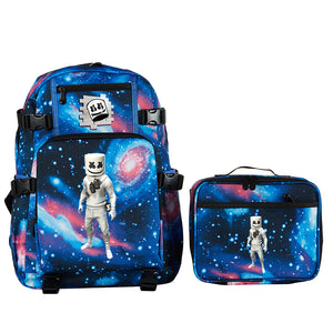 Marshmello School Backpack with Detachable Lunch Bag