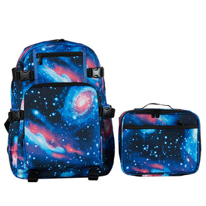 Galaxy School Backpack with Detachable Lunch Bag