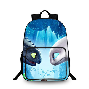 How To Train Your Dragon 3 Toothless & Light Fury 3D Large Capacity Backpack for School 18 Inch