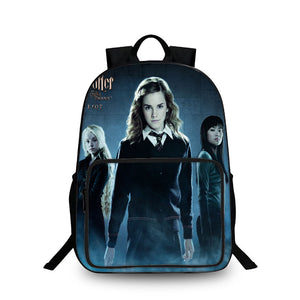 Harry Potter Hermione 3D Large Capacity Backpack for School 18 Inch