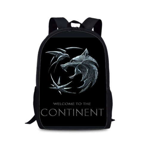 Witcher Theme 3D Backpack School Bag Storage Bag 16 Inch for Kids