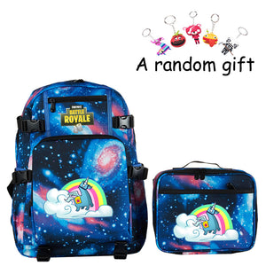 2019 Fortnite Llama Series New Youth School Backpack with Detachable Lunch Bag