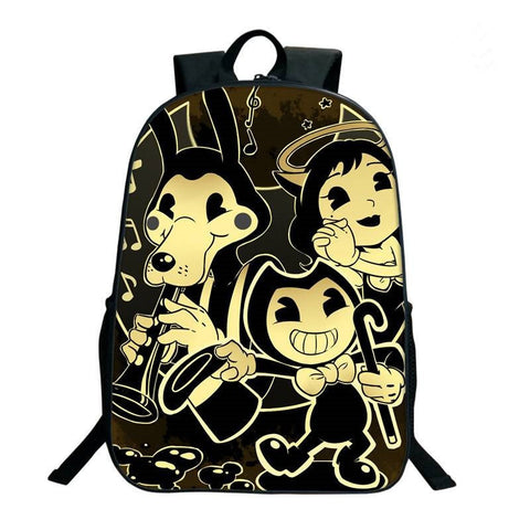 Bendy And The Ink Machine 2019 Backpack for School 17 Inch