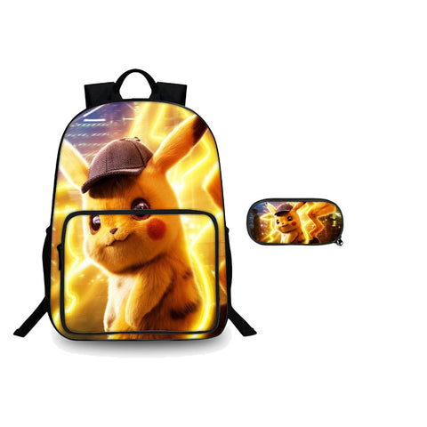 Pokémon Detective Pikachu Graphic Backpack And Pencil Case 2 in 1