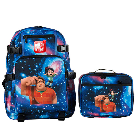 Ralph Breaks The Internet School Backpack with Detachable Lunch Bag