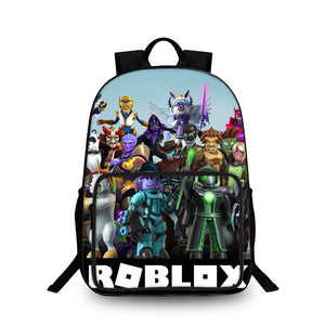 Roblox All Characters 2019 3D Unisex Large Capacity Backpack for School 18 Inch