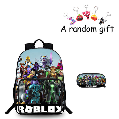 Roblox All Characters Boys 3D 18 Inch Backpack And Pencil Case 2 in 1