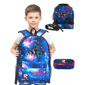 Roblox Backpack 17 in for School Lunch Bag And Pencil Case Bundle 3 in 1