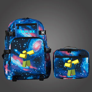 Roblox Dab Multifunction School Backpack with Detachable Lunch Bag Glow in The Dark
