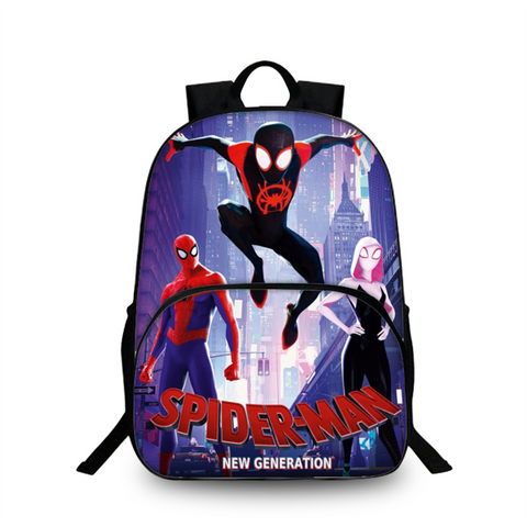 Spider Man Into the Spider Verse Backpack for School 16 Inch