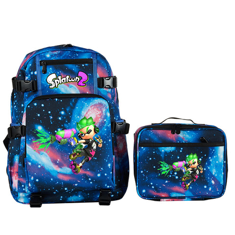 Splatoon 2 School Backpack with Detachable Lunch Bag