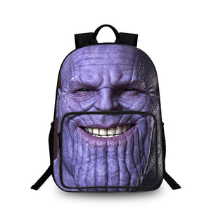 Thanos Smile Face 3D Large Capacity Backpack for School 18 Inch