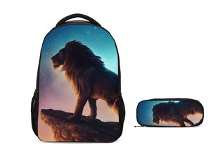 The Lion King 2019 Galaxy School Backpack with Pencil Case Set