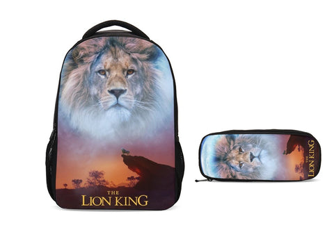 The Lion King 2019 School Backpack with Pencil Case Set