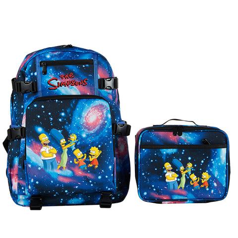 The Simpsons School Backpack with Detachable Lunch Bag