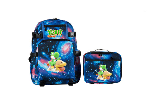 Yoshi's Crafted World School Backpack with Detachable Lunch Bag