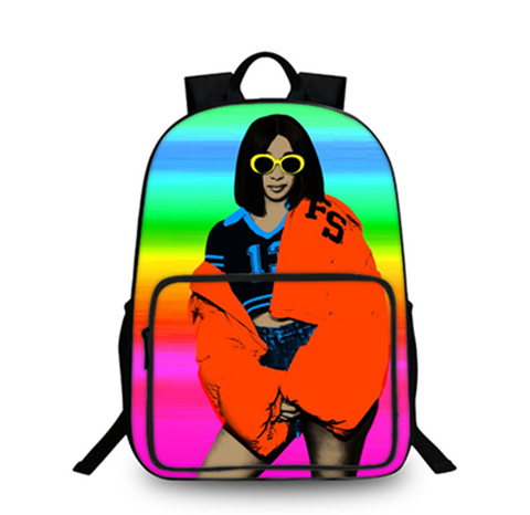 Cardi B 3D Large Capacity Backpack for School 18 Inch