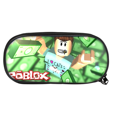 Roblox Denis Daily Pencil Case Student Single Zipper Stationery Pencil Case