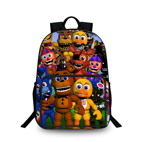 Five Friday Nights At Freddy's 3D Large Capacity Backpack for School 18 Inch