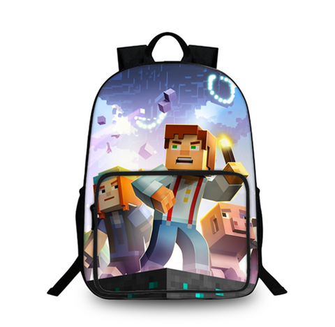 Minecraft Story Mode 3D Large Capacity Backpack for School 18 Inch