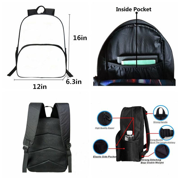 Fortnite All Characters 3D Backpack for School 16 Inch