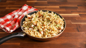 Whole Wheat Fusilli Alfredo Chicken