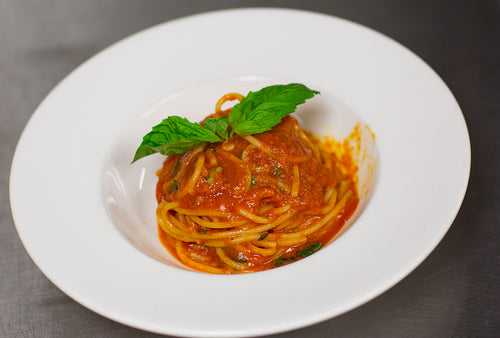 Spaghetti or Penne Tomato with Basil