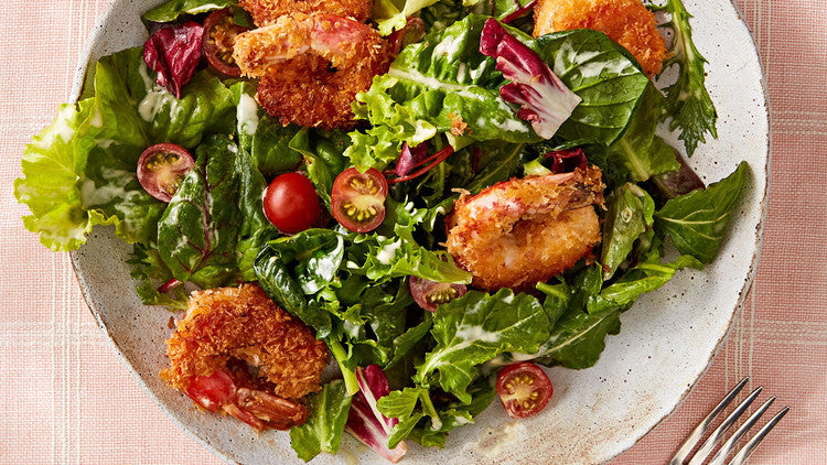 Crispy Shrimp Lunch Salad