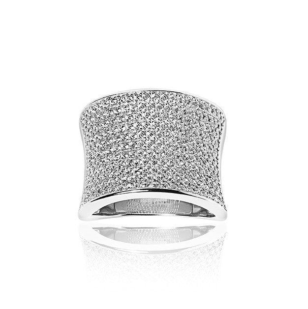 sormus Dinami Ring with white zirconia