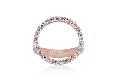 sormus Ring Biella Grande - 18k rose gold plated with white zirconia