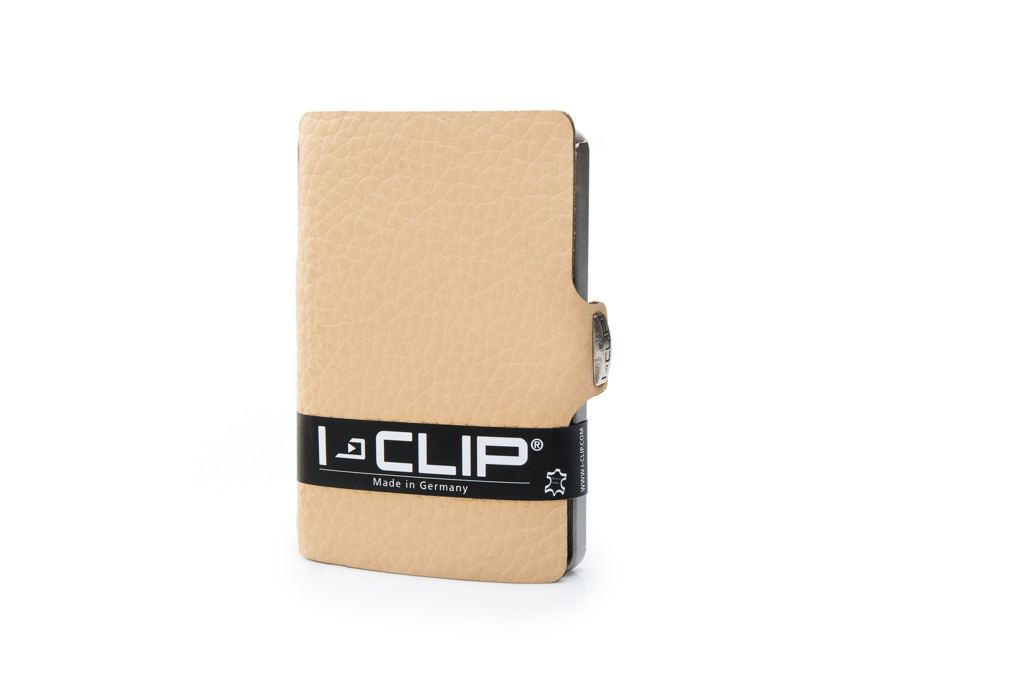 I-Clip Pilot Calf Leather, cream lompakko