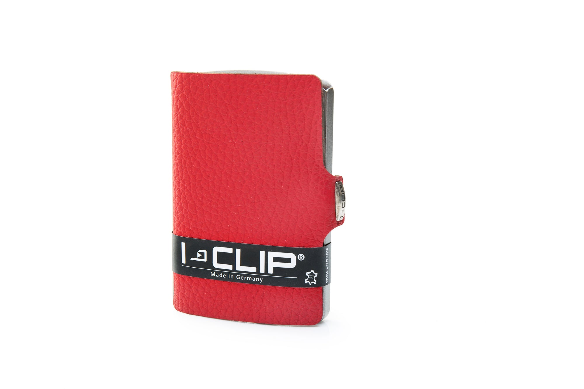 I-Clip Pilot Calf Leather, red lompakko