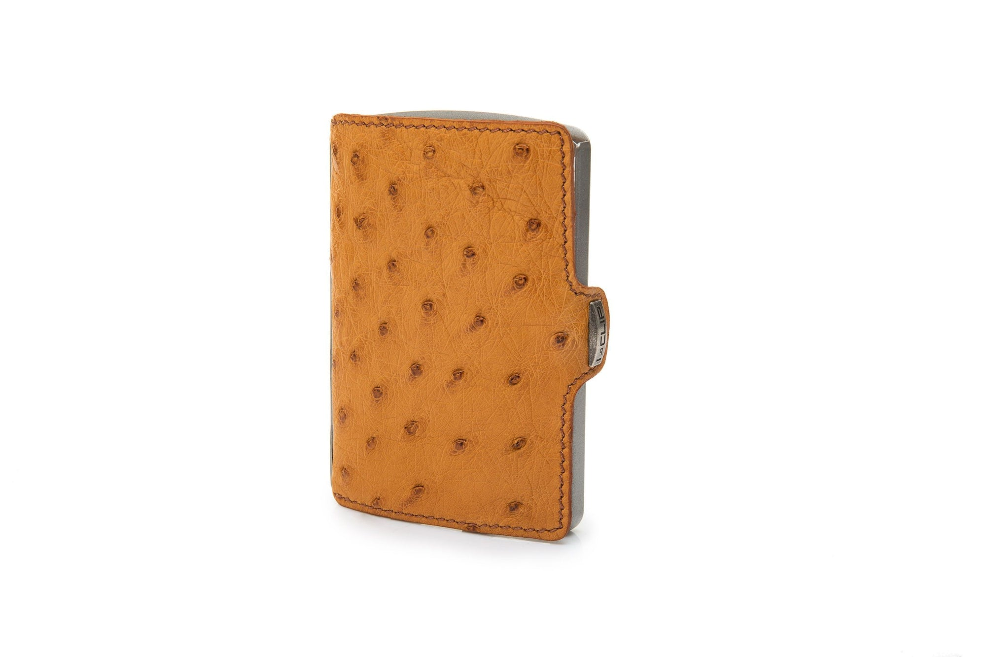 I-Clip Business Ostrich Leather, buff lompakko
