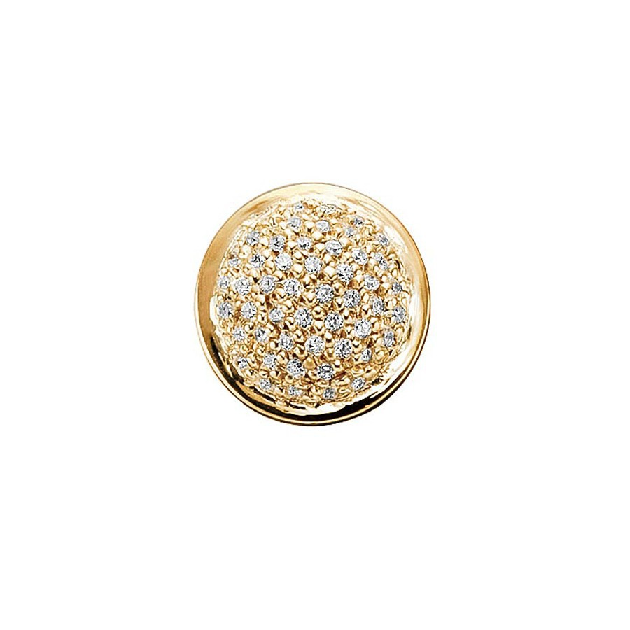 Pave button with cz
