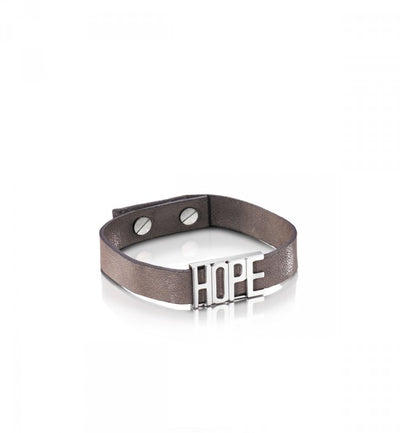 Efva Attling Hope Leather band MAUVE nahkarannekoru