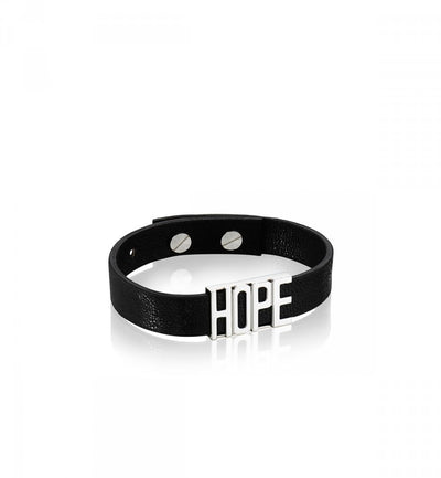Efva Attling Hope Leather Band - Black rannekoru