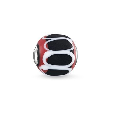 Thomas Sabo Karma Bead Glass Black, red, white K0256-017-11