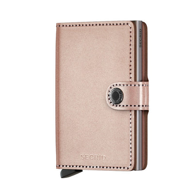 Secrid Miniwallet Metallic Rose lompakko