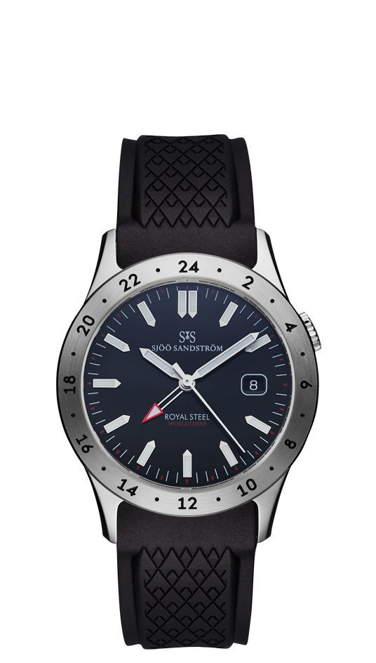 Sjöö Sandström Royal Steel Worldtimer 36mm 020432