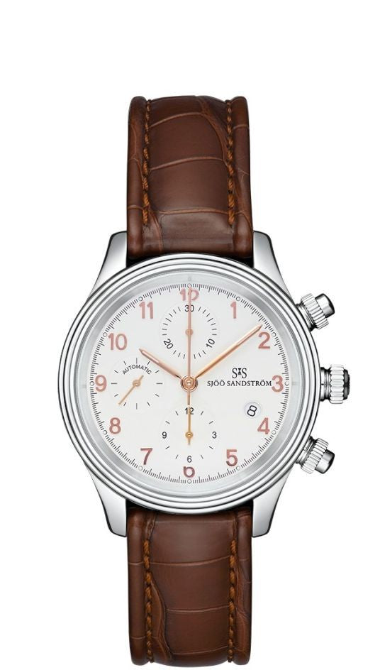 Sjöö Sandström Royal Steel Chronograph 012628