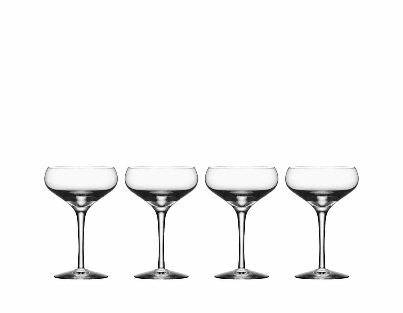 Orrefors More Coupe SHAMPANJALASIT 4- Pack