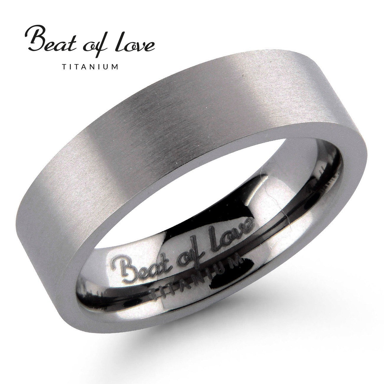 Beat of Love titaanikihlasormus TI-031-6mm