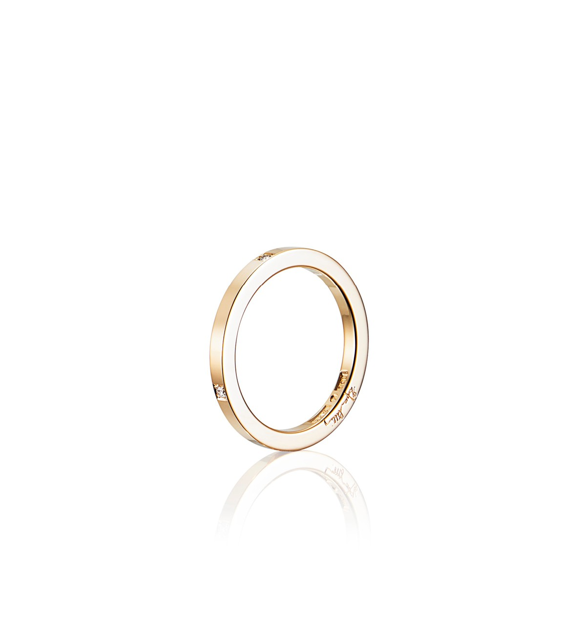 Efva Attling High & 4 Stars Thin Ring timanttisormus