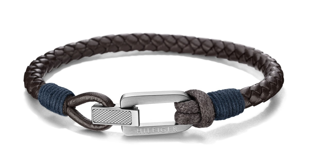 Tommy Hilfiger Braided Leather nahkainen rannekoru THJ2701011